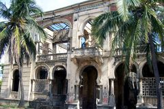 Ruins of a colonial palace. Royalty Free Stock Photography