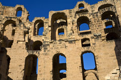 Ruins of colosseum royalty free stock photo