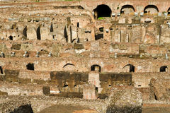 Ruins of the Colosseum arena, Rome Stock Photos