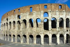 The Ruins of the Colosseum in Rome Stock Photo