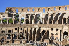 The ruins of the Colosseum in Rome,. Italy Stock Images