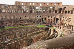 Ruins of the Colosseum, Rome, Italy. Ruins of the Colosseum from inside, Rome, Italy Stock Photo