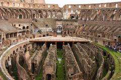 Ruins of the Colosseum, Rome, Italy. Ruins of the Colosseum from inside, Rome, Italy Royalty Free Stock Photos