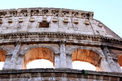 Ruins of the Colosseum of Rome in Italy Royalty Free Stock Image