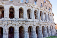 Ruins of the colosseum in Rome Stock Photos