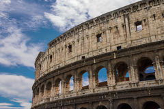 Ruins of the Colosseum in Rome, Italy Royalty Free Stock Photography