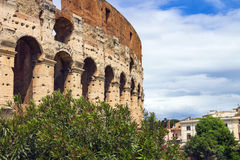 Ruins of the Colosseum in Rome, Italy Stock Photo