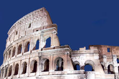 The ruins of the Colosseum in Rome, Italy. Royalty Free Stock Image