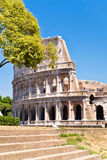 Ruins of the Colosseum in Rome on a summer day Stock Image