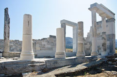Ruins and Columns in Greece Stock Photo