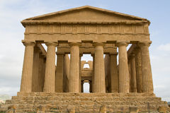 Ruins of Concord temple in Agrigento. royalty free stock images