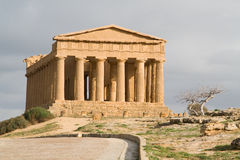 Ruins of Concord temple in Agrigento. Royalty Free Stock Photo