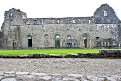 Ruins of Cong Abbey, west of Ireland. Cong Abbey is a historic site located at Cong, on the borders of counties Galway and Mayo, in Ireland`s province of Royalty Free Stock Photos