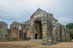 Ruins of the Convent of Conception Convento de las Monjas de la Concepción at Panama Viejo Ruins - Panama City, Panama royalty free stock image