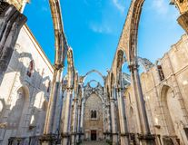 Ruins of the Convent of Our Lady of Mount Carmo Royalty Free Stock Photography