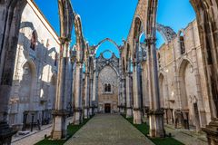 Ruins of the Convent of Our Lady of Mount Carmo Stock Image