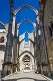 Ruins of Convento do Carmo, Lisbon stock image