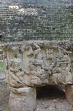 Altar Q at Maya archaeological site Stock Images