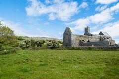 Corcomroe Abbey Ruins. Ruins of Corcomroe Abbey, a Cistercian monastery located in the north of the Burren region of County Clare in Ireland Royalty Free Stock Image