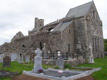 Ruins of Corcomroe Abbey. In the north of the Burren region of County Clare, Ireland Royalty Free Stock Photography