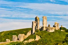 Ruins of Corfe Castle Royalty Free Stock Photo