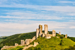 Ruins of Corfe Castle Stock Images