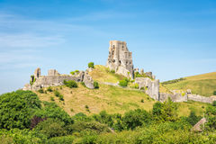 Ruins of Corfe Castle Royalty Free Stock Photography
