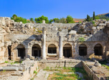 Ruins in Corinth, Greece. Archaeology background Stock Photos