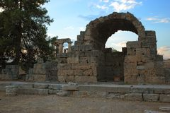 Ruins in Corinth, Greece stock photography