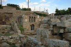Ruins in Corinth, Greece royalty free stock photos