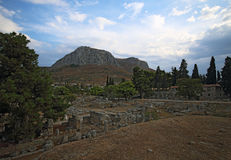 Ruins in Corinth, Greece royalty free stock image