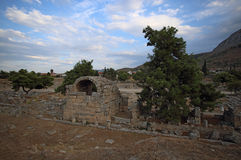 Ruins in Corinth, Greece royalty free stock photo