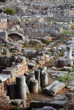 Ruins in Corinth, Greece - archaeology background Stock Photo