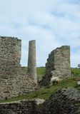 Ruins of Cornish mining. Mine working buildings in Cornwall UK. These particular buildings are at South Caradon, close to the town of Liskeard. The engine house Royalty Free Stock Photo