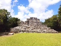Ruins Cozumel Mexico Tourism. Tourist attraction in Mexico in the city of Cozumel of ancient ruins structure stock photos