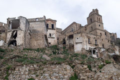 Ruins of Craco, Basilicata region, Italy Stock Photos