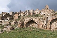 Ruins of Craco, Basilicata region, Italy Stock Photo