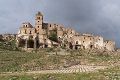Ruins of Craco, Basilicata region, Italy Royalty Free Stock Images