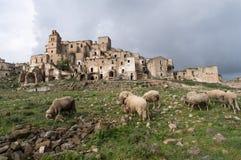 Ruins of Craco, Basilicata region, Italy Stock Photography
