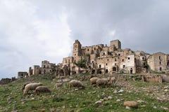 Ruins of Craco, Basilicata region, Italy Royalty Free Stock Photography