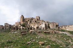 Ruins of Craco, Basilicata region, Italy Royalty Free Stock Photos