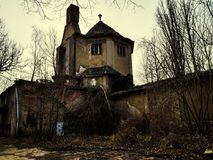 Ruins of a crematorium. In Germany Royalty Free Stock Image