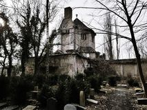 Ruins of a crematorium. In Germany Royalty Free Stock Images