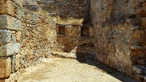 Ruins in crete. Ruins on the island of spinalonga, crete royalty free stock photography