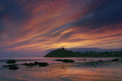 Ruins of Criccieth castle Stock Images