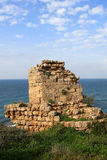 Ruins of crusaders fortress. At Apollonia national park, Israel Royalty Free Stock Images