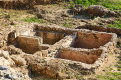 Ruins of Crusaders fortress in Israel Stock Images