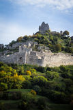 Ruins of the Crussol castle, in France Stock Image