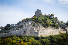 Ruins of the Crussol castle, in France Stock Photo