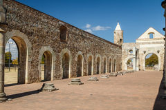 Ruins of the Cuilapan de Guerrero monastery, Oaxaca. Mexico Royalty Free Stock Photos